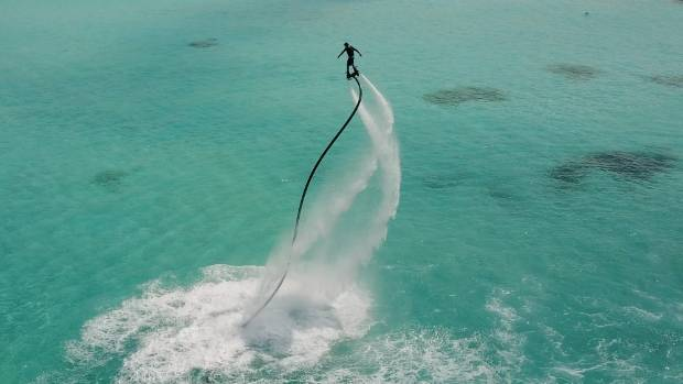 Flyboarding is a popular new sport at Kani.