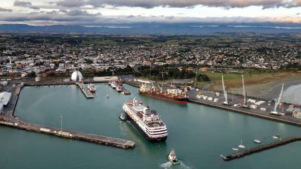 The cruise ship Maasdam when it visited Timaru earlier this year.