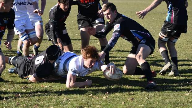 Timaru Boys' High School captain Cullen Grace scored three tries in an outstanding performance against Waimea Combined.