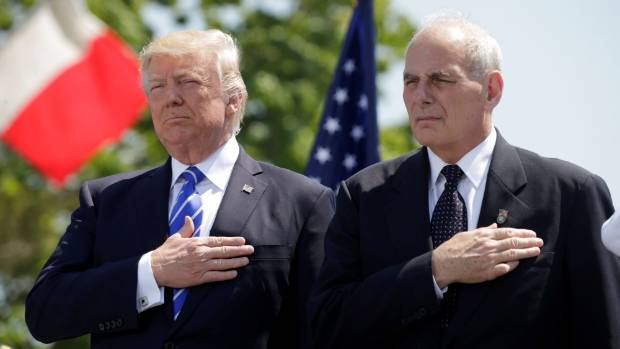 US President Donald Trump (left) with his new right-hand man John Kelly.