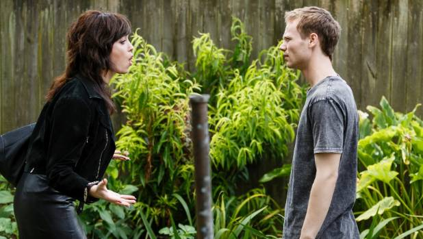 Wolf (Reef Ireland) clashes with mother Rita (Antonia Prebble) in a scene from Westside.