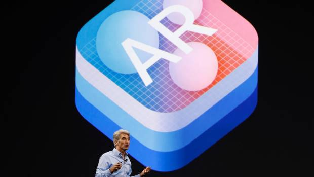 Craig Federighi, Apple's senior vice president of software, talks about the company's new augmented reality platform ...