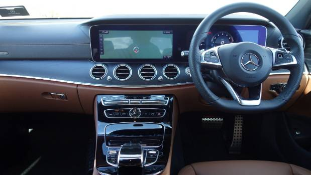 E-class is one of the most hi-tech cars on the market - and the interior reflects that.