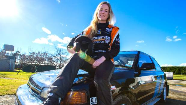 28072017. News. Photo: Doug Field/Timaru Herald. Samantha Gray from Timaru is starting to find traction as a rally co-driver