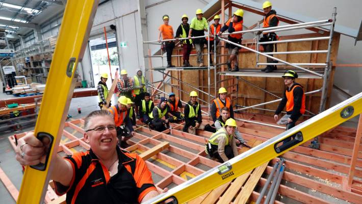Carpentry students make themselves at home with Mega build
