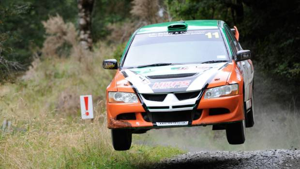 Samantha Gray and Keith Anderson compete in Westland Rally earlier this year.