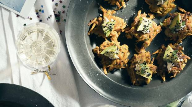 These fritters are the perfect finger food.