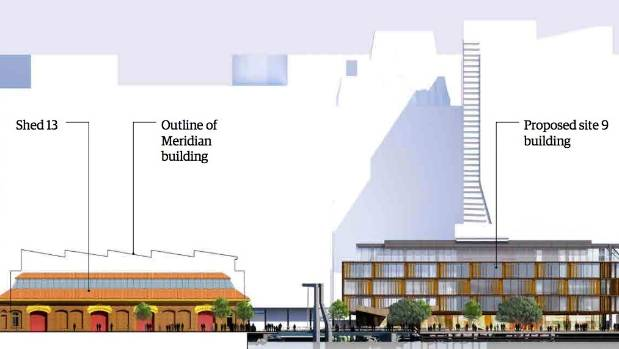 The image used in Wellington City Council's public consultation documents shows the proposed building relative to Shed ...