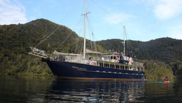 The Milford Wanderer ran aground during low tide on one of Stewart Island's many uncharted rocks.