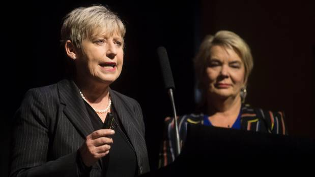 Christchurch mayor Lianne Dalziel with National MP Nicky Wagner.