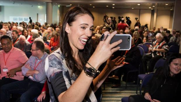 Jacinda Ardern has soared in popularity.