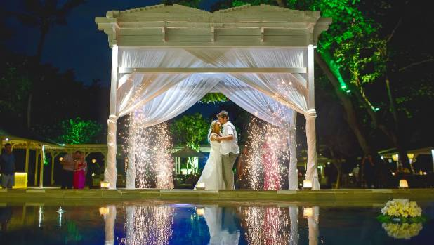 The resort offered a gorgeous setting for the wedding.