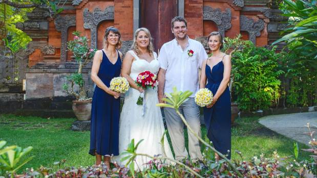 Kristina describes her wedding day as 'relaxed, hot and fun!'