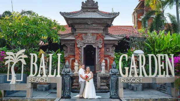 The wedding was at the beautiful Bali Garden Beach Resort.