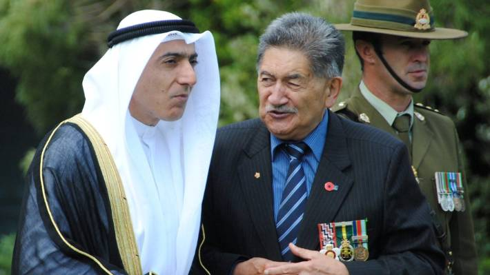 Kuwait Ambassador to New Zealand Ahmed Bader Razouqi at a powhiri at Government House in February, 2015. He left New Zealand in April, 2016 after - it is understood - police sought to charge him.