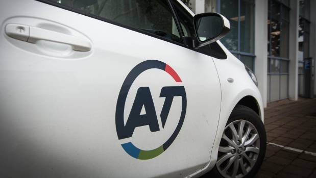 AT's official logo as seen on one of its company cars in Auckland.