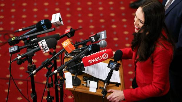 Newly appointed Labour leader Jacinda Ardern speaks to media. Can she retain her popularity?