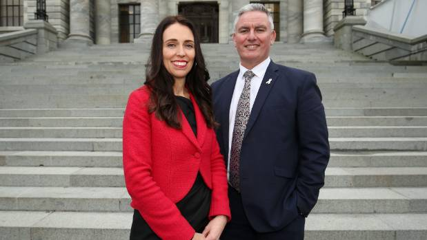 New Labour leader Jacinda Ardern and deputy Kelvin Davis.