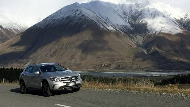 A Mercedes Benz GLA 180 Rounds A Bend In Inland Canterbury High Country.