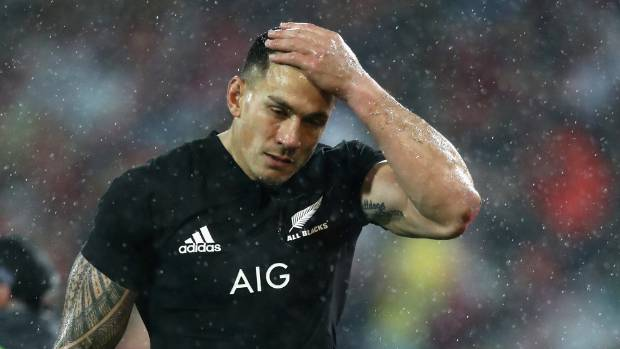 Sonny Bill Williams became the first All Black in 50 years to be sent off in the second test against the British and ...