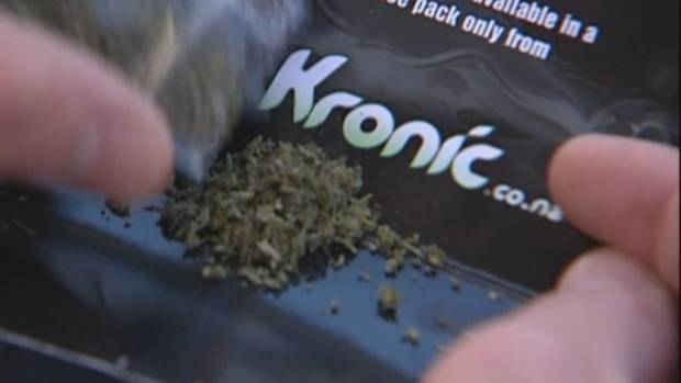 Police have arrested a Napier man for synthetic cannabis possession and possession of a restricted weapon.