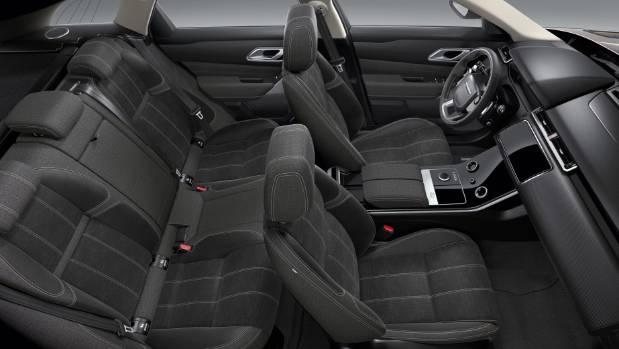 Inside the Range Rover Velar.