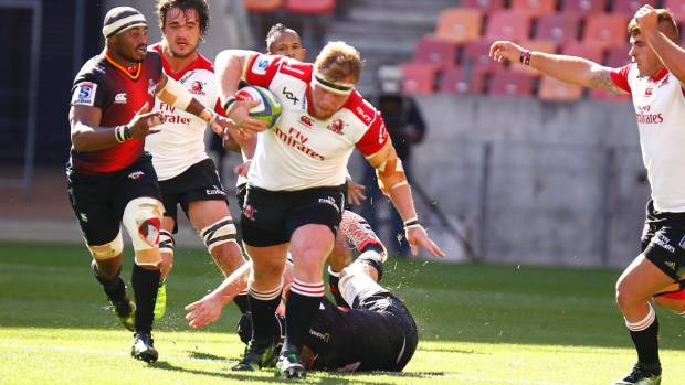 Loosehead prop Jacques van Rooyen is a powerful ball carrier.