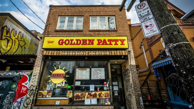The Golden Patty in Kensington Market - the smell of delicious goat curry wafts down the street to greet you.