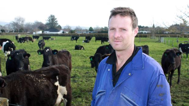 Waikato Share Farmer of the Year winner Phillip van Heuven on his new farm at Ngahinapouri, south of Hamilton.