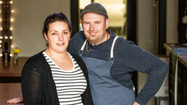 Leslie Hottiaux and Mo Koski of Auckland's Apero, named the best metropolitan restaurant of 2017.