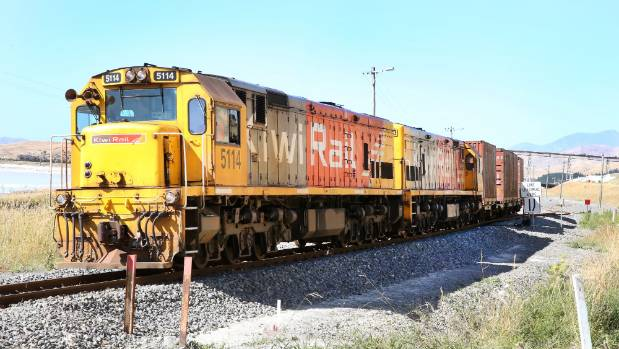 A work train travels between Spring Creek and Grassmere, in Marlborough, in January. (File photo)