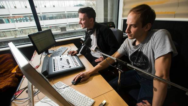 David Stevens, left, is passing over the helm of Radio Control to  Michael Tilley.