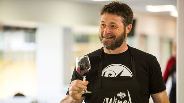 Glover Family Vineyards owner Ben Glover judges an entry in the New World Wine Awards at Wellington's Westpac Stadium.