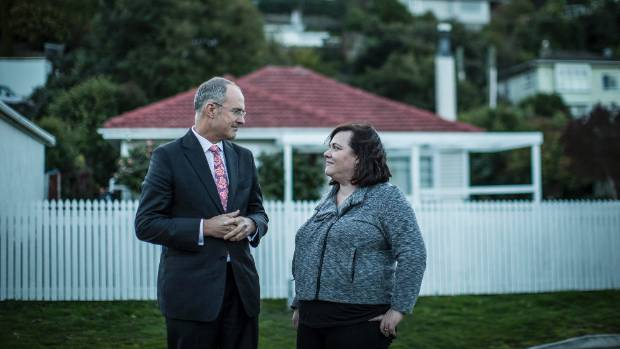 Labour housing spokesman Phil Twyford and Labour candidate for Nelson Rachel Boyack ahead of a public meeting at Nelson.