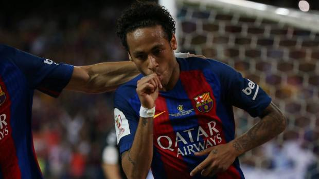 Lionel Messi Bids Farewell To Neymar