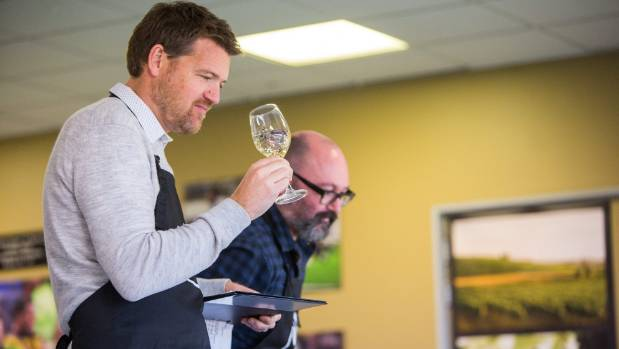 Accolade Wines general manager Jack Glover judging the New World Wine Awards at Wellington's Westpac Stadium.