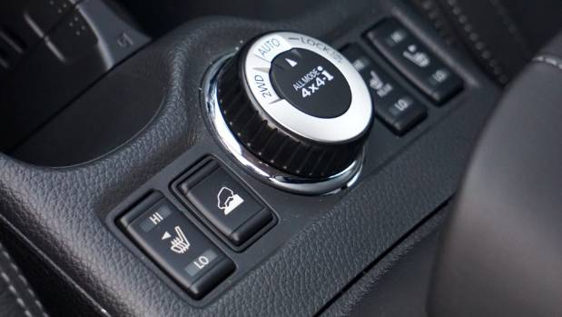 Useful 4WD system includes three modes, plus help with the hill-driving.