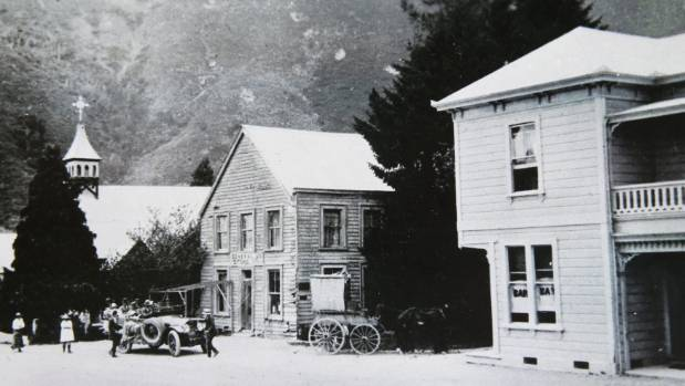 Canvastown got its name from the tent city that sprung up after a gold rush in 1864. Pictured here is the Trout Hotel, ...