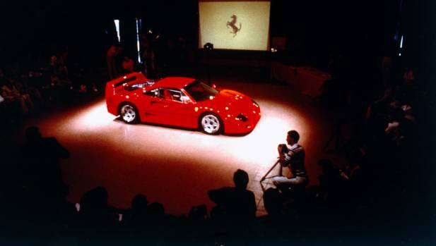 It's July 21, 1987, and the Ferrari F40 is unveiled to world.
