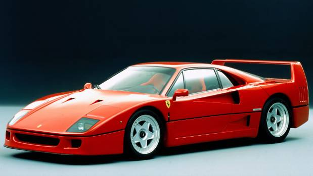 The sublime lines of the Ferrari F40.