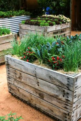 2. Raise it: Raised vege beds make sense practically for their ease of use, soil warmth and drainage. But they also add ...