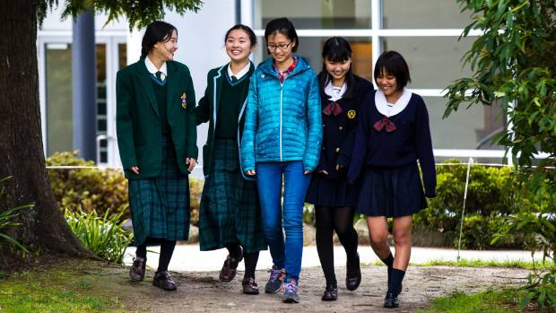 Exchange students visiting Craighead School are, from left, Diana Kang and Sara Kim, both 14 and from South Korea. In ...