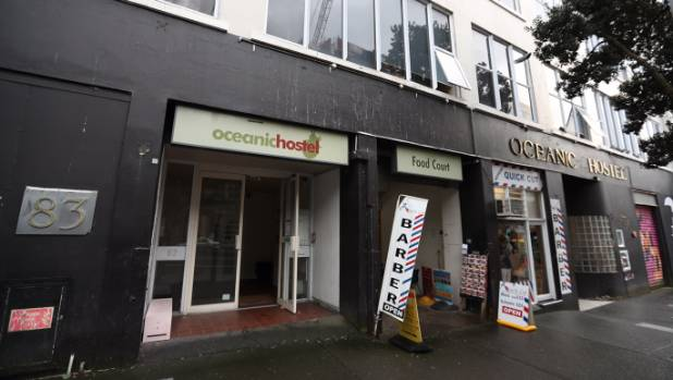 The Oceanic Hostel in downtown Auckland, where a 47-year-old man is believed to have died after using synthetic drugs.