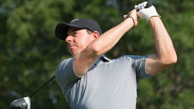Rory McIlroy hit hit one of the recovery shots of the tournament during the second round.