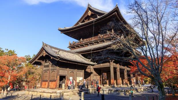 Nanzen-ji, a complex of Zen temples and sub-temples, is tucked against the Higashiyama (Eastern Mountains).