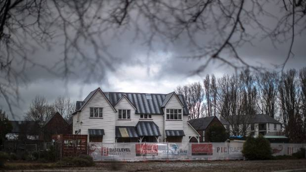 The former St Luke's vicarage in Christchurch is under repair.
