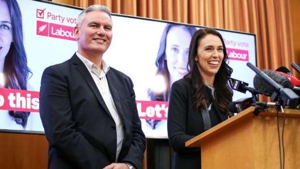 Labour leader Jacinda Ardern and deputy Kelvin Davis