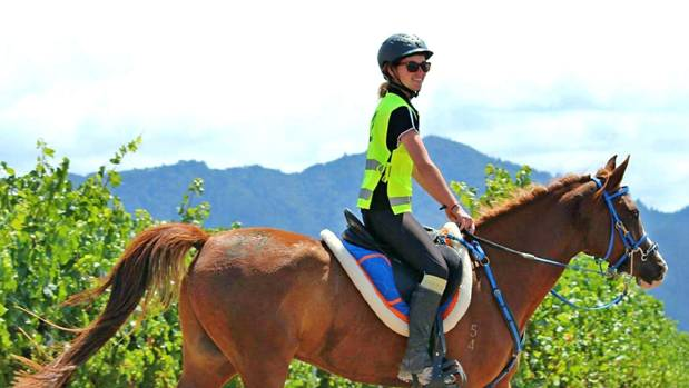 Keen endurance horse rider and South Island champion Tess Wells, on her horse Barnaby, will be competing in Australia.