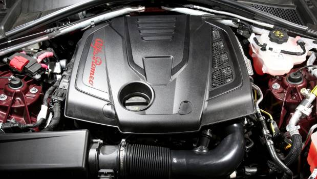 Veloce gets the most powerful version of the 2.0-litre turbo offered for Giulia, with an eight-speed gearbox.