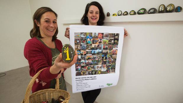 "Palmy Rocks co-founders Heather Knox, left, and Kate Parlane have set up the ""Palmy Rocks: We Are One"" photo exhibition."